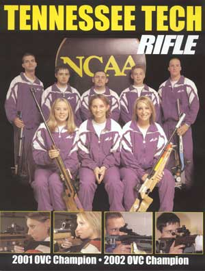 2002-2003 TTU Rifle Team picture.