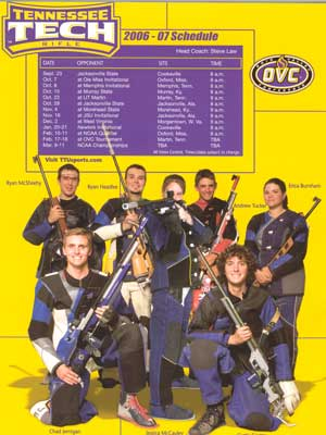 2006-2007 Rifle Team brochure.