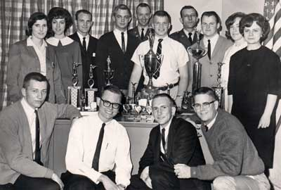 1965 Tech Rifle Team with trophies