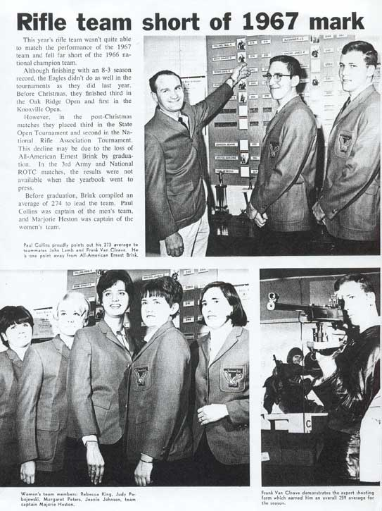 1968 TTU Rifle Team left