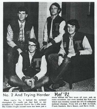 1972 TTU Rifle Team