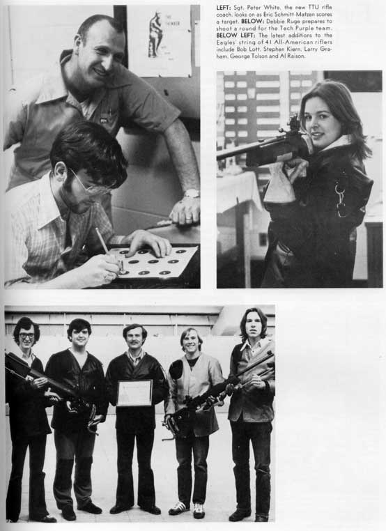 1976 TTU Rifle Team in the yearbook