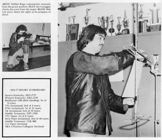 1977 Tech Rifle Team in yearbook