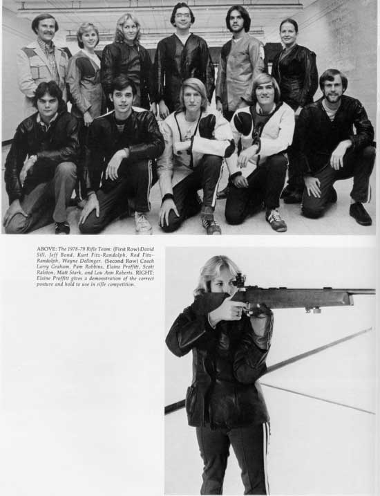 1979 TTU Rifle Team in the yearbook.