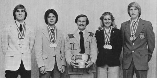Photo after winning the 1979 NRA Intercollegiate Rifle Team Championships
