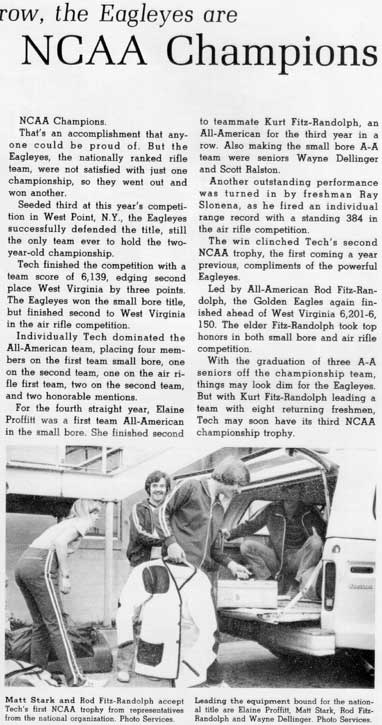 1981 yearbook article