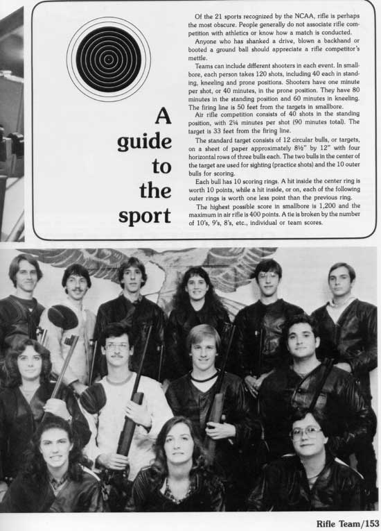1983 yearbook article on TTU Rifle Team