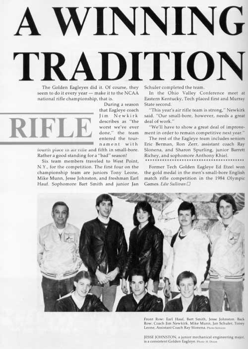 1985 yearbook article