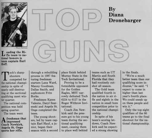 1987 TTU yearbook article
