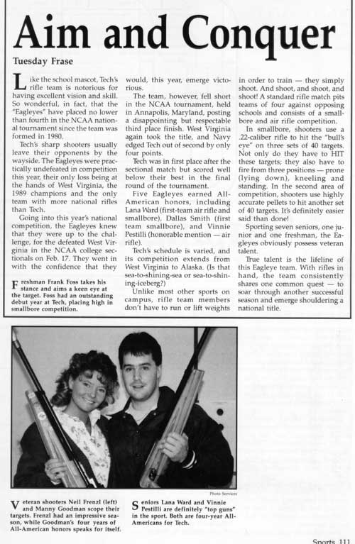 1990 yearbook article
