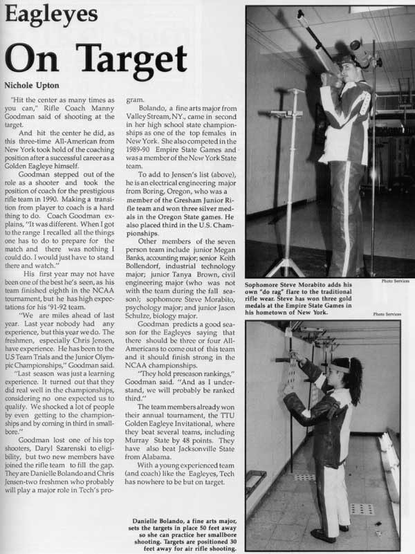 1992 yearbook article