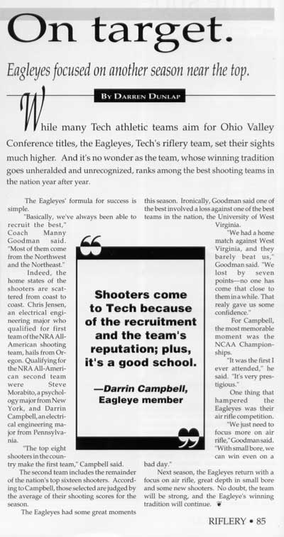 1994 TTU yearbook article
