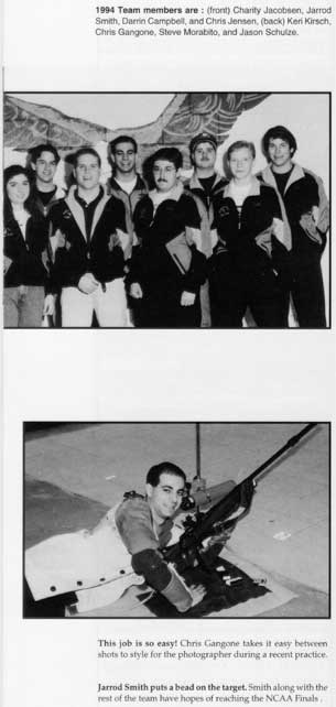 1995 TTU Rifle Team article in yearbook